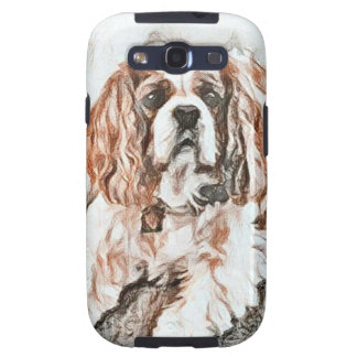 Adorable Cavalier King Charles Spaniel Sketch Galaxy SIII Covers