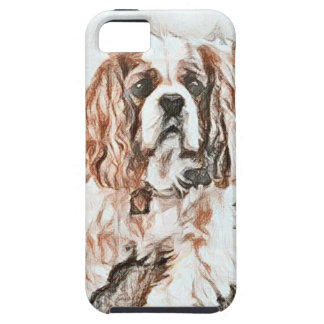 Adorable Cavalier King Charles Spaniel Sketch iPhone 5 Cases
