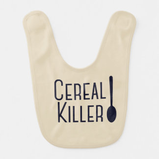 "Adorable ""Cereal Killer"" Baby Bib"
