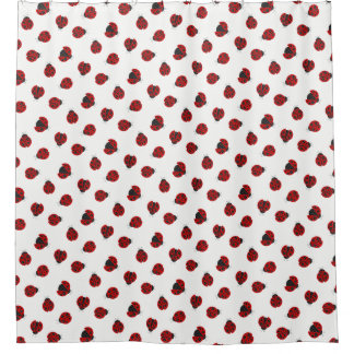 Adorable Checkered Plaid Ladybug Graphic Patt