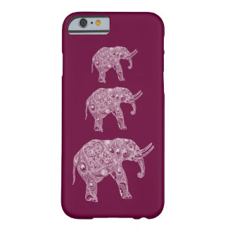 Adorable cheerful cute elephant barely there iPhone 6 case