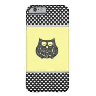 Adorable cheerful cute girly owl barely there iPhone 6 case