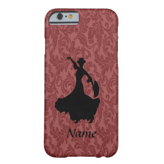 Adorable cheerful damask flamenco dancer barely there iPhone 6 case