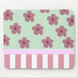Adorable cheerful Elegant floral stripes Mouse Pad