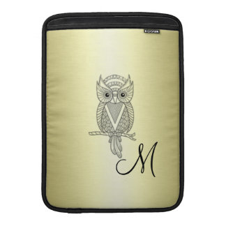 Adorable cheerful Elegant owl golden MacBook Air Sleeves