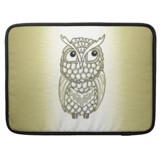 Adorable cheerful Elegant owl golden Sleeves For MacBooks