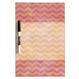 Adorable cheerful vintage leather look chevron Dry-Erase boards