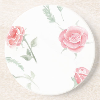 Adorable cheerful Watercolor elegant vintage roses Coaster