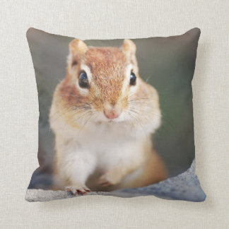 Adorable Chipmunk Portrait Throw Pillow