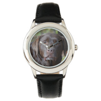 Adorable Chocolate Labrador Retriever Wrist Watch