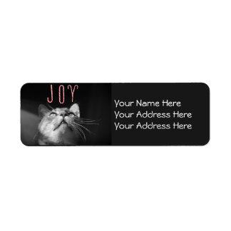 Adorable Christmas Cat Return Address Label