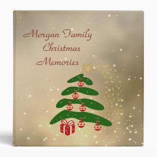 Adorable  Christmas Tree,Ornaments,Present 3 Ring Binder