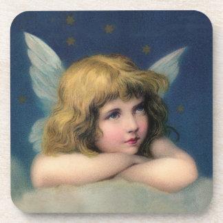 Adorable Christmas Vintage Angel Coaster