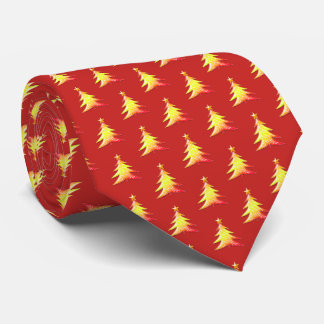 Adorable Colorful Christmas Trees Tie