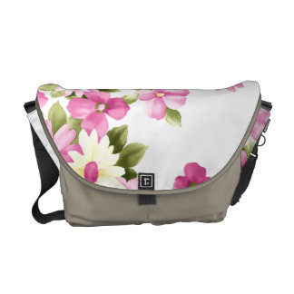 Adorable Colorful Girly Blooming Flowers Courier Bags
