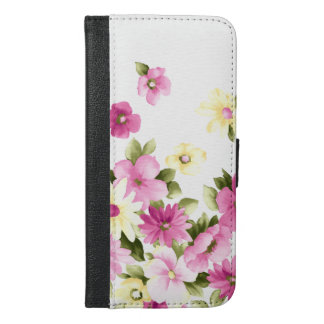 Adorable Colorful Girly Blooming Flowers iPhone 6/6s Plus Wallet Case