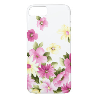 Adorable Colorful Girly Blooming Flowers iPhone 8/7 Case