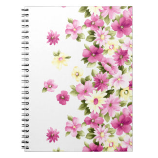 Adorable Colorful Girly Blooming Flowers Notebooks