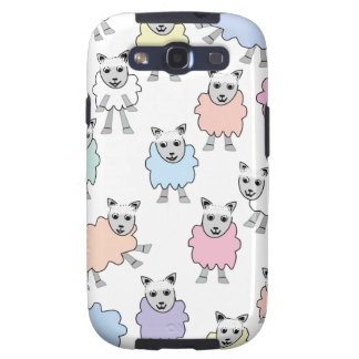 Adorable Colorful Sheep Samsung Galaxy S3 Cover