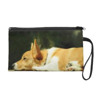 Adorable Corgi Pup Bagette Wristlet Purses