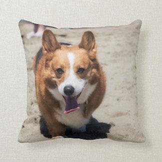 Adorable Corgi two sided throw pillow