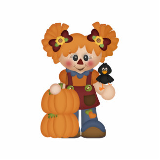 Adorable Country Autumn Fall Doll Photo Cut Out