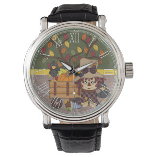 Adorable Country Autumn Fall Rag Doll Watch
