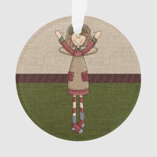 Adorable Country Folk Art Rag Angel Doll