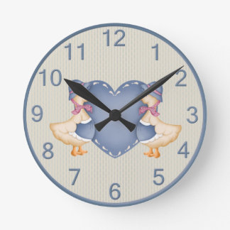 Adorable Country Goose Clock
