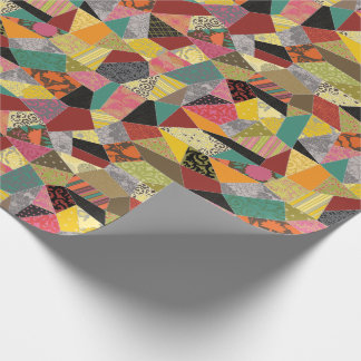 Adorable Crazy Quilt Wrapping Paper