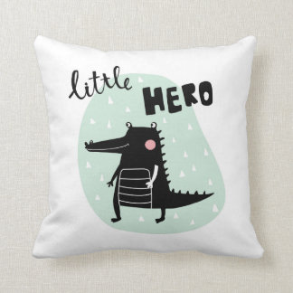 Adorable crocodile throw pillow