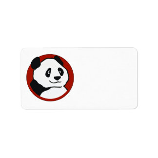 Adorable Customizable Panda Themed Gifts and Tees Label
