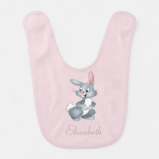 Adorable Cute Baby Bunny -Personalized Bib