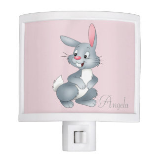 Adorable Cute Baby Bunny -Personalized Night Lite