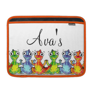 Adorable cute baby dinosaurs doodle picture design MacBook air sleeve
