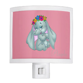 Adorable Cute Baby Elephant-Personalized Night Lights