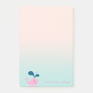Adorable Cute  Baby  Whale Post-it Notes