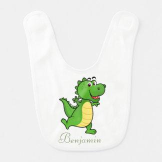 Adorable Cute Cartoon Crocodile -Personalized Bib