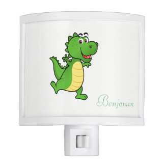 Adorable Cute  Cartoon Crocodile  -Personalized Nite Lite