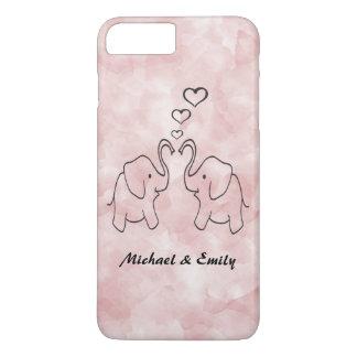 Adorable cute elephants in love iPhone 7 plus case