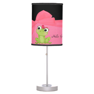 Adorable Cute Frog on Polka Dots-Hello Gorgeous Table Lamps