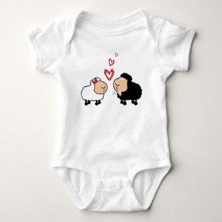 Adorable cute funny cartoon sheep in love baby bodysuit