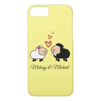 Adorable cute funny cartoon sheep in love iPhone 8/7 case