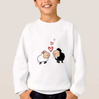 Adorable cute funny cartoon sheep in love sweatshirt