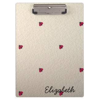 Adorable Cute ,Ladybugs,Luminous-Personalized Clipboard