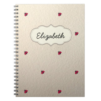 Adorable Cute ,Ladybugs,Luminous-Personalized Spiral Notebook