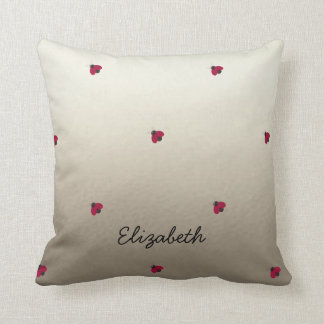 Adorable Cute ,Ladybugs,Luminous-Personalized Throw Pillow