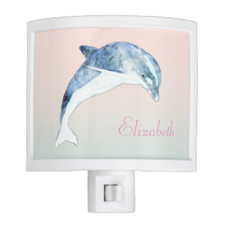 Adorable Cute Light Blue  Dolphin Nite Lites