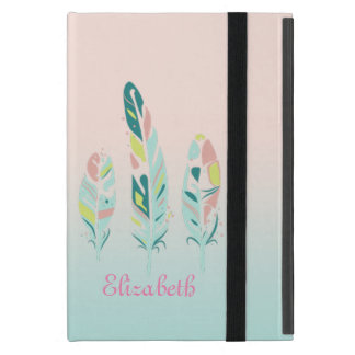 Adorable Cute  Modern Girly Feathers Cover For iPad Mini