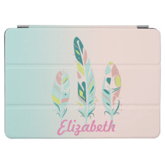 Adorable Cute  Modern Girly Feathers iPad Air Cover